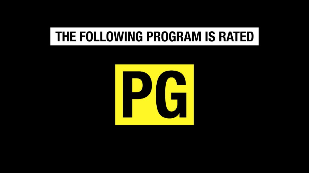 Image reads: The Following Program Is Rated PG